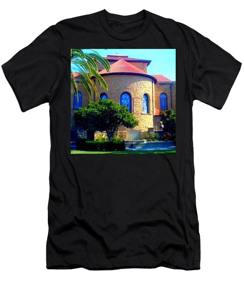 Stanford University Chapel - Palo Alto Ca Men's T-Shirt (Athletic Fit)