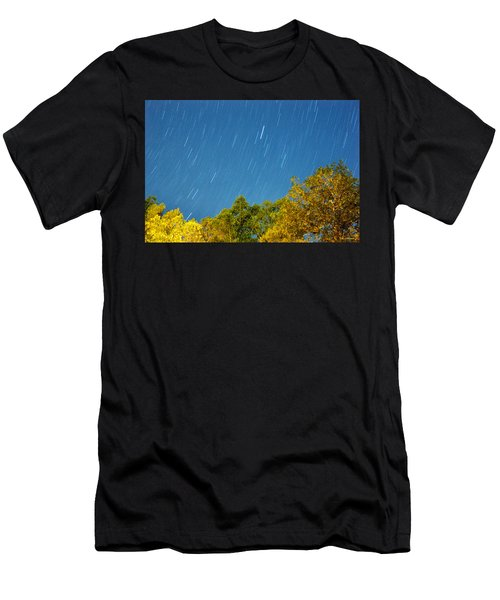 Star Trails On A Blue Sky Men's T-Shirt (Athletic Fit)