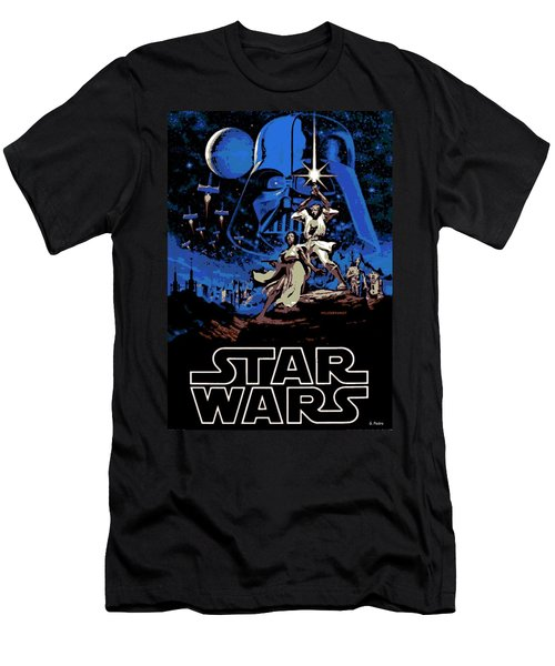 Star Wars Poster Men's T-Shirt (Athletic Fit)