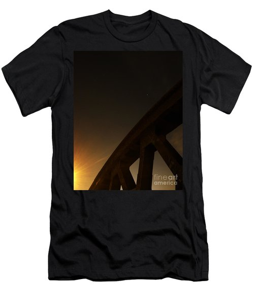 Men's T-Shirt (Slim Fit) featuring the photograph Starry Night On Sunset Bridge by Andy Prendy