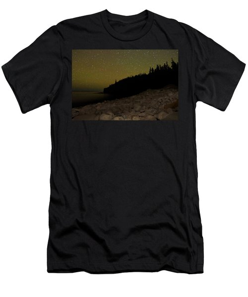 Stars Over Otter Cliffs Men's T-Shirt (Athletic Fit)