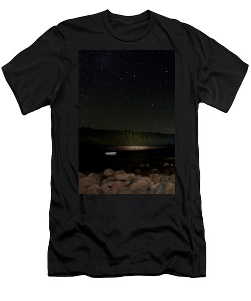 Stars Over Otter Cove Men's T-Shirt (Slim Fit) by Brent L Ander