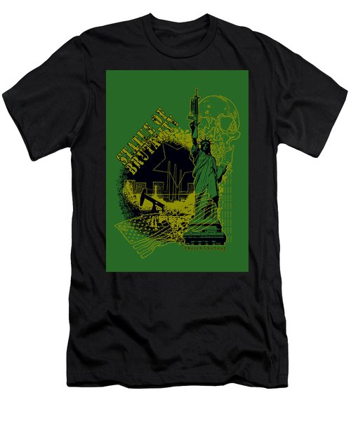 Statue Of Brutality  Men's T-Shirt (Athletic Fit)