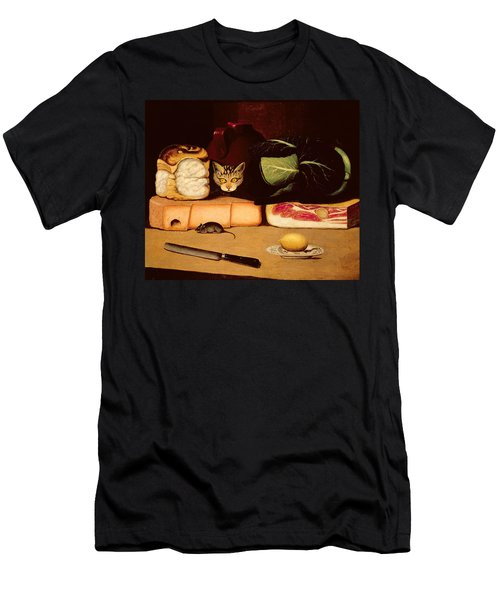 Still Life With Cat And Mouse Men's T-Shirt (Slim Fit) by Anonymous