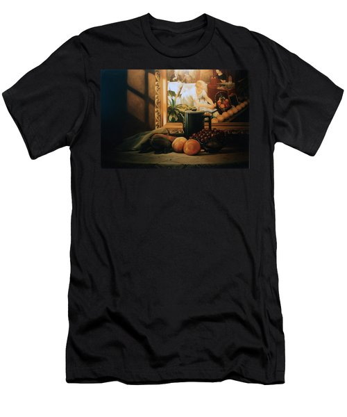 Still Life With Hopper Men's T-Shirt (Athletic Fit)