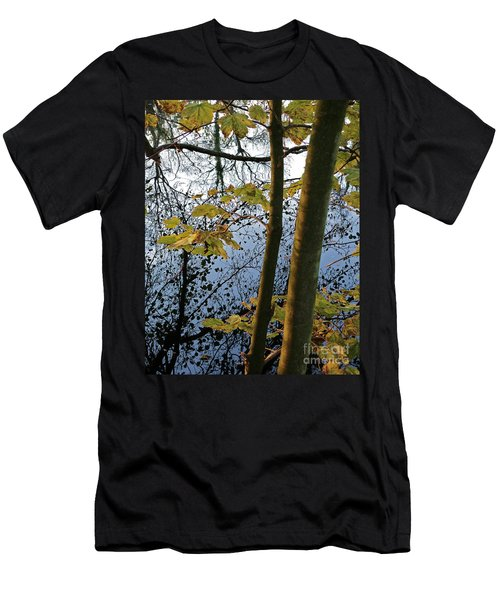 Still Waters In The Fall Men's T-Shirt (Slim Fit) by Andy Prendy