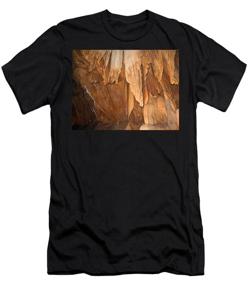 Men's T-Shirt (Athletic Fit) featuring the photograph Stone Fold Elegance by Lynda Lehmann