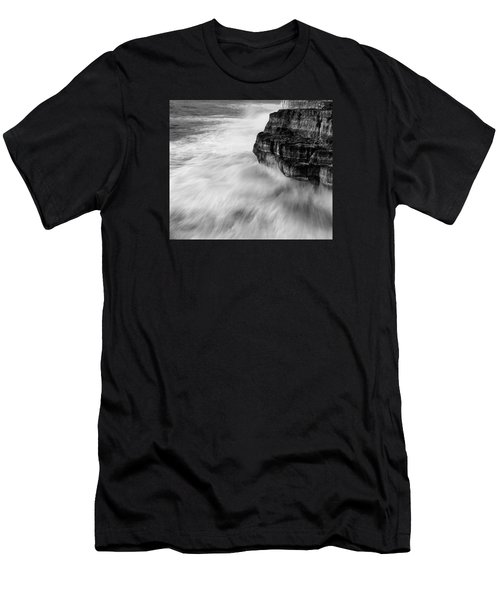 Men's T-Shirt (Slim Fit) featuring the photograph Stormy Sea 1 by Pedro Cardona