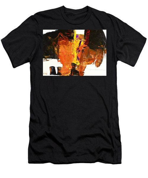 Men's T-Shirt (Athletic Fit) featuring the painting Subliminal Sublimation by Cliff Spohn