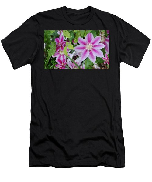 Summer Clematis Men's T-Shirt (Athletic Fit)