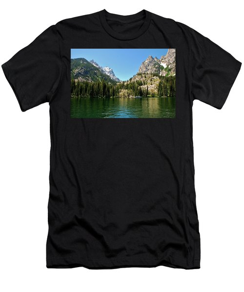 Summer Day At Jenny Lake Men's T-Shirt (Athletic Fit)