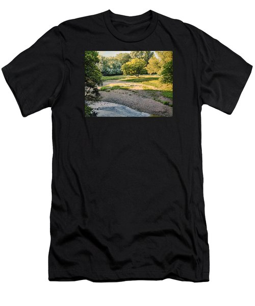 Summer Evening Along The Creek Men's T-Shirt (Athletic Fit)