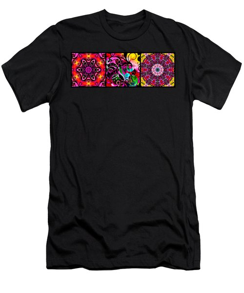 Summer Introspection Of An Extrovert Triptych Horizontal Men's T-Shirt (Athletic Fit)