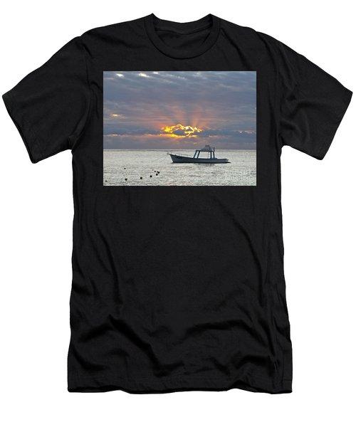 Sunrise - Puerto Morelos Men's T-Shirt (Athletic Fit)