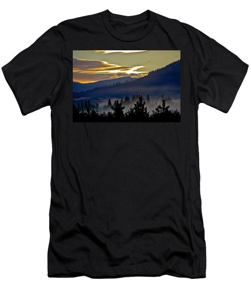 Sunrise And Valley Fog Men's T-Shirt (Slim Fit) by Albert Seger