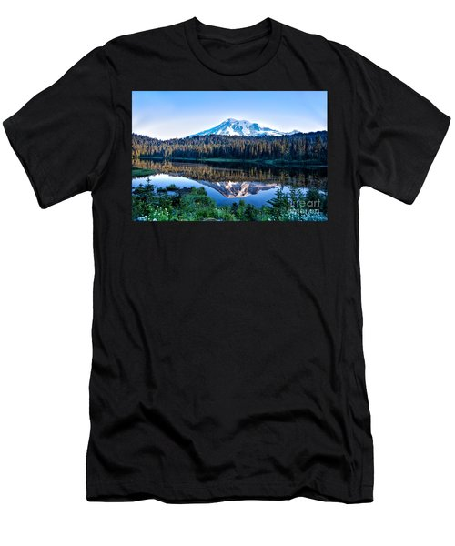 Sunrise At Reflection Lake Men's T-Shirt (Athletic Fit)