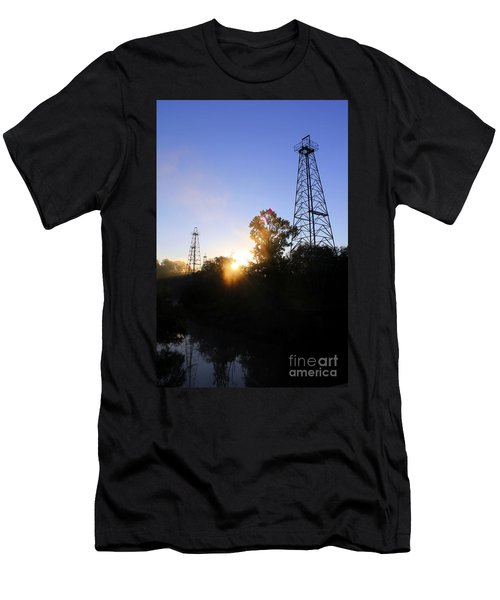 Sunrise On The Sabine Men's T-Shirt (Slim Fit) by Kathy  White