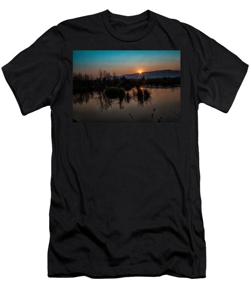 Sunrise Over The Beaver Pond Men's T-Shirt (Athletic Fit)