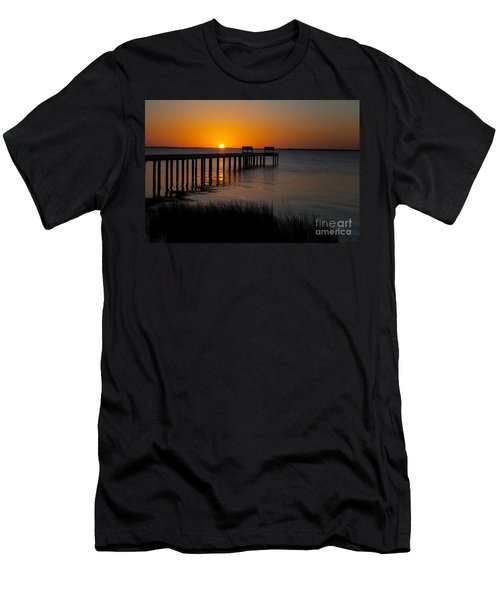 Sunset Across Currituck Sound Men's T-Shirt (Athletic Fit)