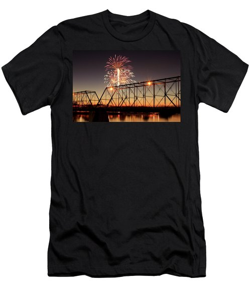 Sunset And Fireworks Men's T-Shirt (Athletic Fit)