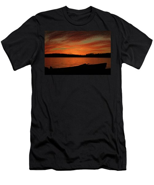 Sunset And Kayak Men's T-Shirt (Athletic Fit)