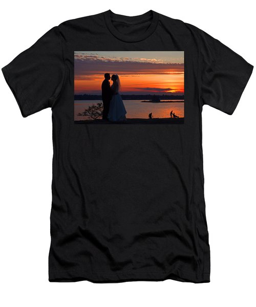 Sunset At Night A Wedding Delight Men's T-Shirt (Athletic Fit)