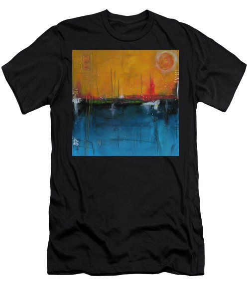 Sunset At The Lake  # 1 Men's T-Shirt (Athletic Fit)