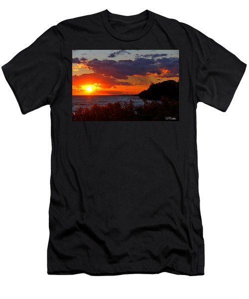 Sunset By The Beach Men's T-Shirt (Athletic Fit)