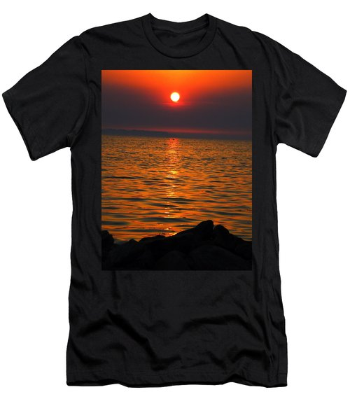 Men's T-Shirt (Slim Fit) featuring the photograph Sunset by Colette V Hera  Guggenheim
