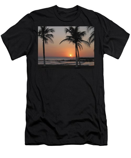 Men's T-Shirt (Slim Fit) featuring the photograph Sunset by David Gleeson