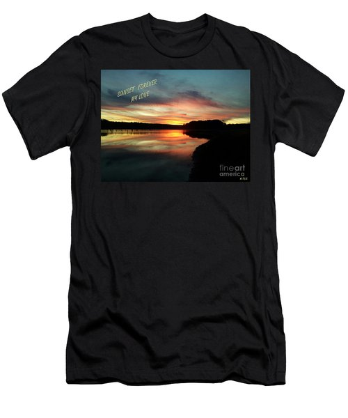 Sunset Forever My Love Men's T-Shirt (Athletic Fit)