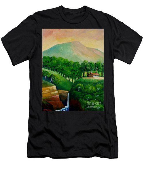 Sunset In The Mountain Men's T-Shirt (Athletic Fit)