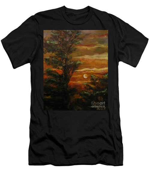 Sunset  Men's T-Shirt (Slim Fit) by Karen  Ferrand Carroll