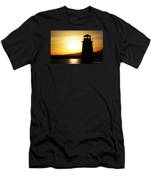 Lake Havasu Sunset Lighthouse Men's T-Shirt (Athletic Fit)