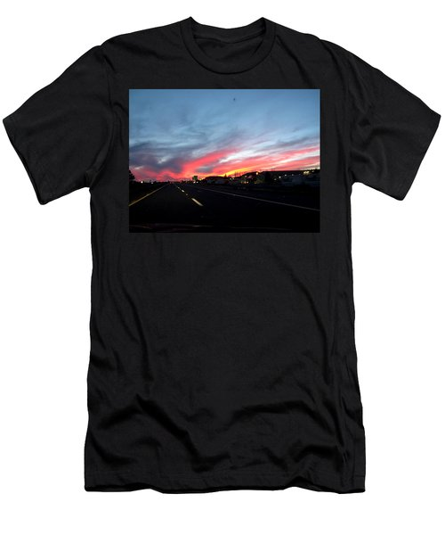 Sunset On Route 66 Men's T-Shirt (Athletic Fit)