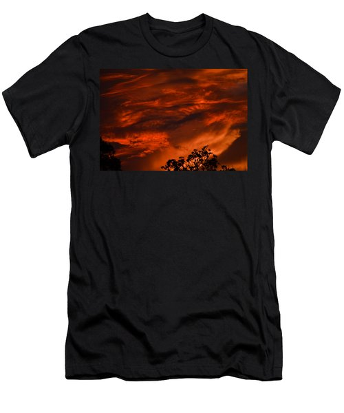 Men's T-Shirt (Slim Fit) featuring the photograph Sunset Over Altoona by DigiArt Diaries by Vicky B Fuller