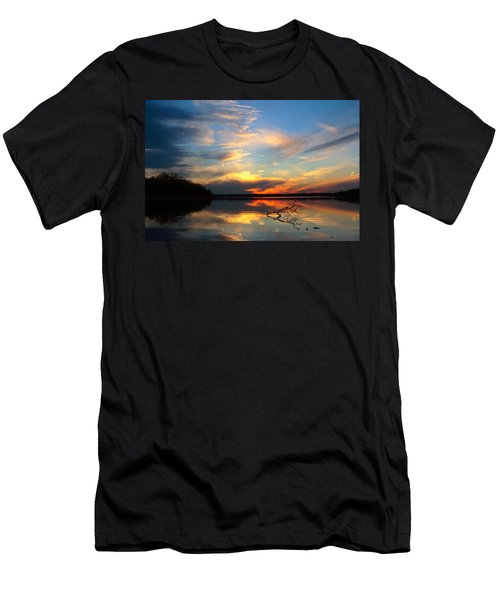Sunset Over Calm Lake Men's T-Shirt (Athletic Fit)