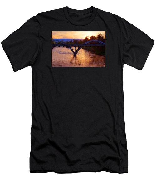 Sunset Over Caveman Bridge Men's T-Shirt (Athletic Fit)