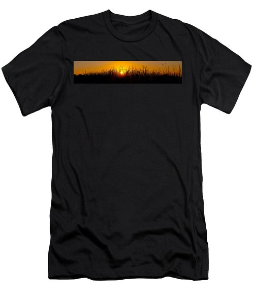 Sunset Over The Prairie Men's T-Shirt (Athletic Fit)