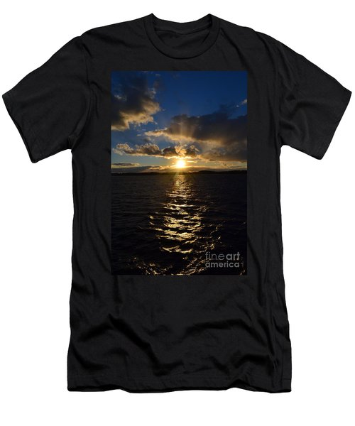 Sunset Over Winnepesaukee Men's T-Shirt (Slim Fit) by Kevin Fortier