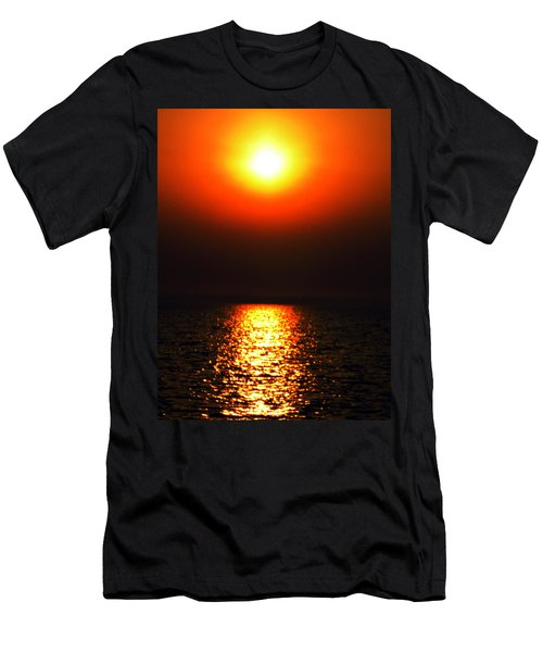 Men's T-Shirt (Slim Fit) featuring the photograph sunset Santorini Greece by Colette V Hera  Guggenheim