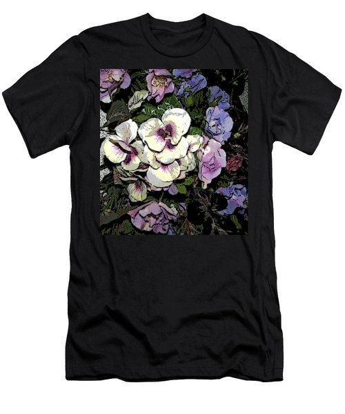 Men's T-Shirt (Slim Fit) featuring the photograph Surrounding Pansies by Pamela Hyde Wilson