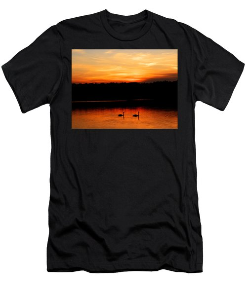 Swans In The Sunset Men's T-Shirt (Athletic Fit)