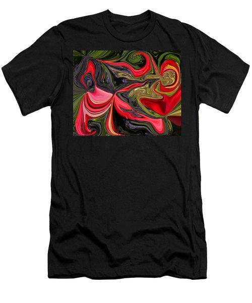 Swirled Garden 1 Men's T-Shirt (Athletic Fit)