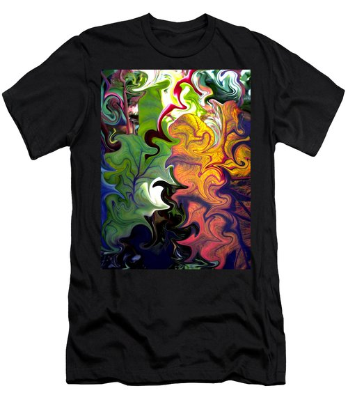 Swirled Leaves Men's T-Shirt (Athletic Fit)
