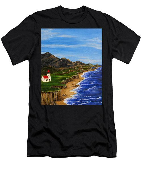 Sylvia's Seascape Men's T-Shirt (Athletic Fit)