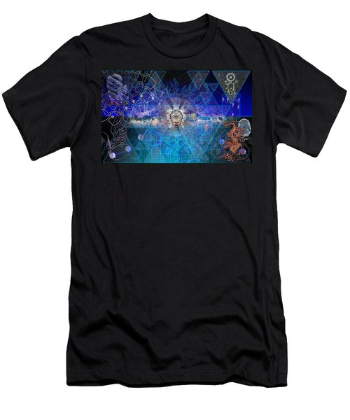 Synesthetic Dreamscape Men's T-Shirt (Slim Fit) by Kenneth Armand Johnson
