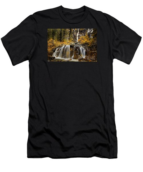 Tangle Falls, Jasper National Park Men's T-Shirt (Athletic Fit)