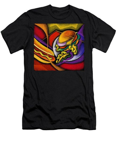 Lunchtime Men's T-Shirt (Slim Fit) by Leon Zernitsky