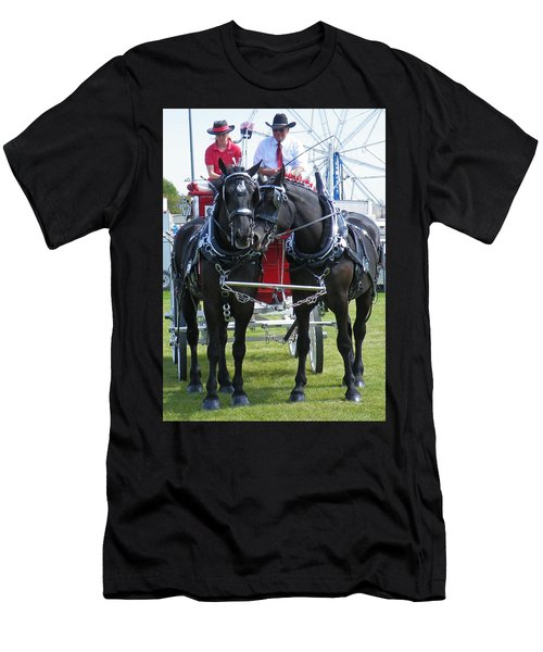 Men's T-Shirt (Slim Fit) featuring the photograph Tender Moment by Davandra Cribbie